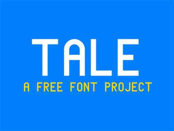 Tale font a free font project by Renz Abong