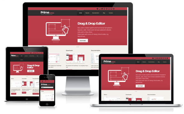 PrimePress Theme for WordPress Responsive Design