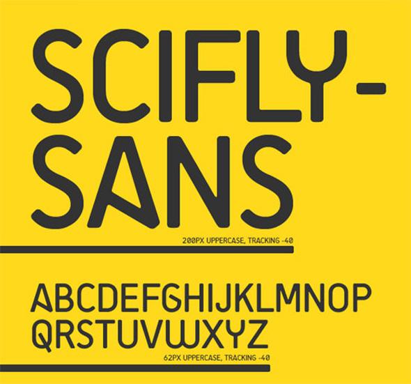 FREE SciFly Sans Font
