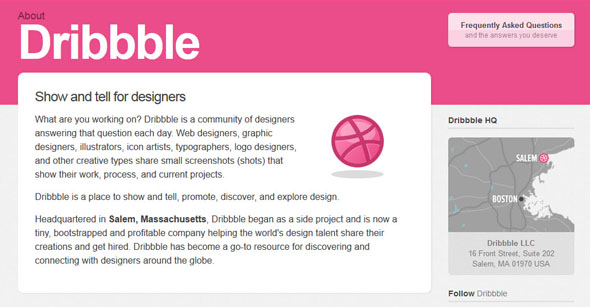 Dribbble das kreative Social Network