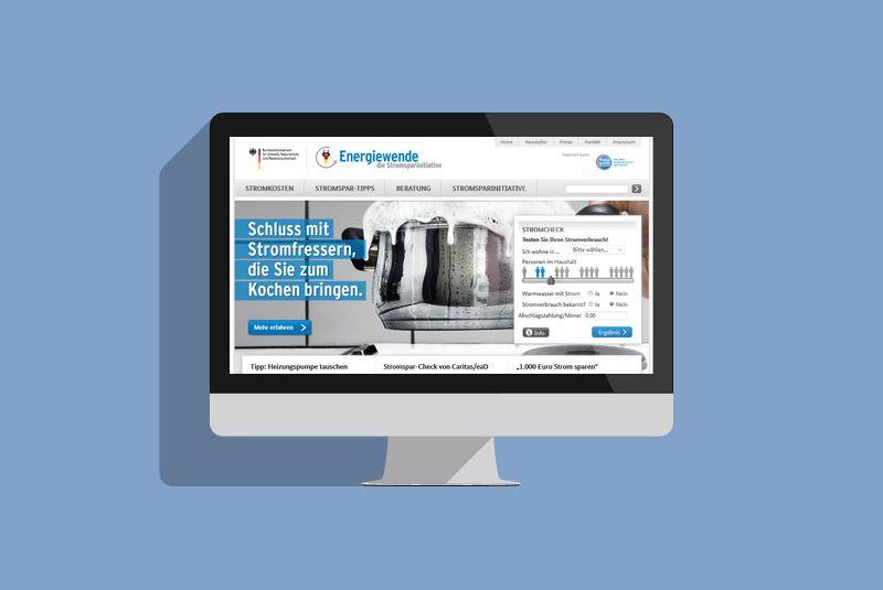 Die Stromsparinitative Website