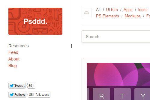 PSDDD: Eine Sammlung der besten Dribbble-Freebies