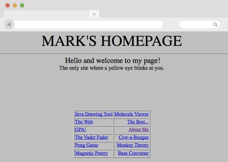 Die erste Website von Mark Zuckerberg