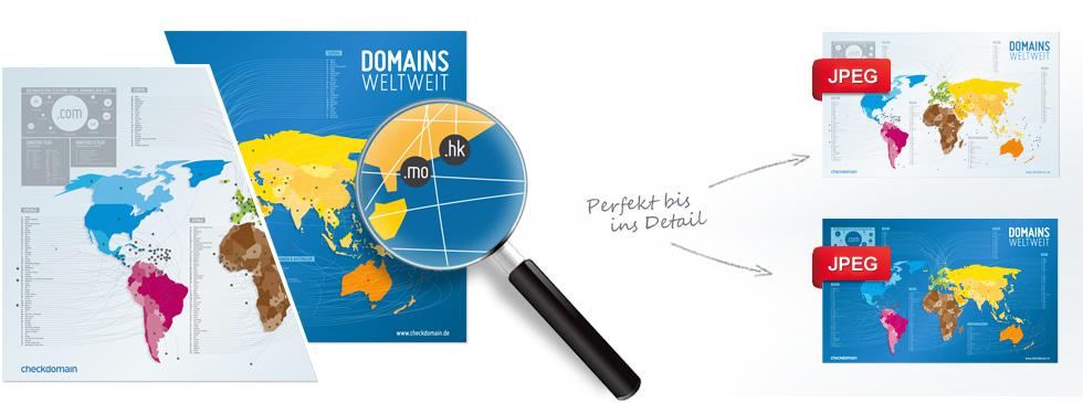 Domain-Weltkarte