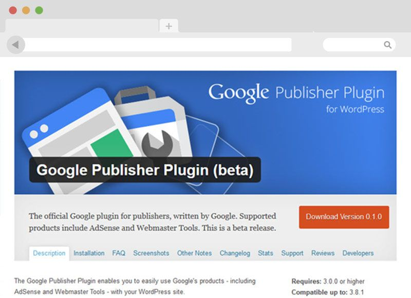 Google Publisher Plugin WordPress