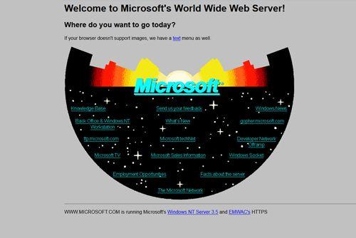 Microsoft erste Website
