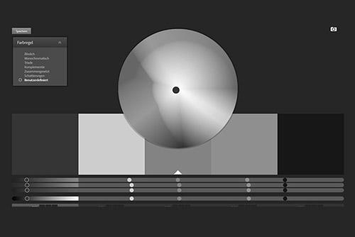 Das Webdesign und die Farbe Grau